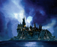 Harry Potter Artwork Harry Potter Artwork Full Moon Over Hogwarts